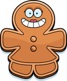Smiling Cartoon Gingerbread Woman Royalty Free Stock Photography