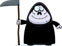 Smiling Cartoon Grim Reaper Royalty Free Stock Images