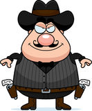 Smiling Cartoon Gunfighter Royalty Free Stock Photo