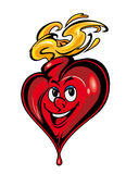 Smiling cartoon heart Stock Photo