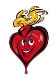 Smiling cartoon heart Stock Photo