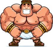 Smiling Cartoon Hercules. A cartoon illustration of Hercules smiling Royalty Free Stock Photography