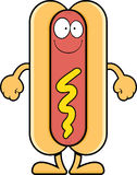 Smiling Cartoon Hot Dog Stock Photos