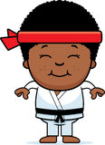 Smiling Cartoon Karate Kid Royalty Free Stock Photography