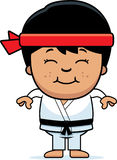 Smiling Cartoon Karate Kid Royalty Free Stock Image