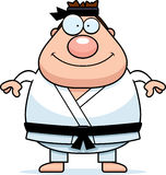 Smiling Cartoon Karate Man Stock Images