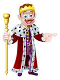 Smiling Cartoon King Stock Images