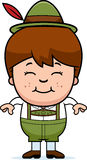 Smiling Cartoon Lederhosen Boy Stock Images
