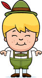 Smiling Cartoon Lederhosen Boy Stock Photos