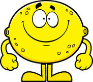 Smiling Cartoon Lemon Stock Image