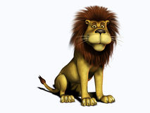Smiling cartoon lion. Royalty Free Stock Photography