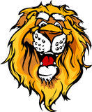 Smiling Cartoon Lion Mascot Graphic Royalty Free Stock Photo
