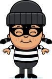Smiling Cartoon Little Burglar Royalty Free Stock Image