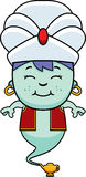 Smiling Cartoon Little Genie Royalty Free Stock Images