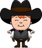 Smiling Cartoon Little Gunfighter Stock Photography