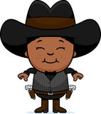 Smiling Cartoon Little Gunfighter Royalty Free Stock Photos