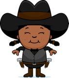 Smiling Cartoon Little Gunfighter vector illustration