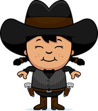 Smiling Cartoon Little Gunfighter Royalty Free Stock Photo