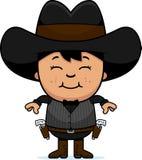 Smiling Cartoon Little Gunfighter royalty free illustration