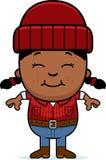 Smiling Cartoon Little Lumberjack Royalty Free Stock Photo