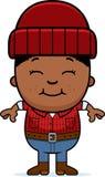 Smiling Cartoon Little Lumberjack Royalty Free Stock Image