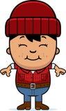 Smiling Cartoon Little Lumberjack Stock Photography