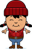 Smiling Cartoon Little Lumberjack Stock Photos