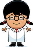 Smiling Cartoon Little Scientist Royalty Free Stock Images