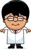 Smiling Cartoon Little Scientist Stock Photography