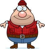 Smiling Cartoon Lumberjack Stock Images
