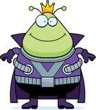 Smiling Cartoon Martian King Royalty Free Stock Images