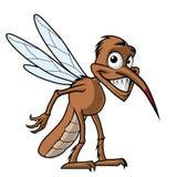 Smiling cartoon mosquito Stock Photos