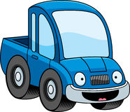 Smiling Cartoon Pickup Truck Royalty Free Stock Photo