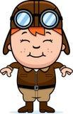 Smiling Cartoon Pilot Stock Photos