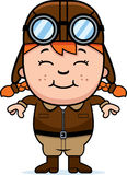 Smiling Cartoon Pilot. A cartoon illustration of a child pilot smiling Royalty Free Stock Images