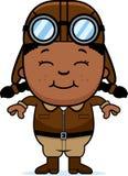 Smiling Cartoon Pilot Stock Photo