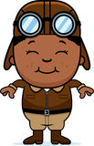 Smiling Cartoon Pilot Royalty Free Stock Photography