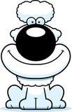 Smiling Cartoon Poodle. A cartoon illustration of a poodle smiling vector illustration