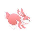 Smiling cartoon rabbit. Funny bunny. Cute hare. Vector illustration Stock Images