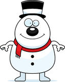 Smiling Cartoon Snowman Stock Images