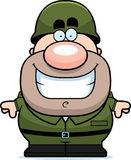 Smiling Cartoon Soldier Stock Image