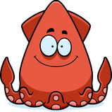 Smiling Cartoon Squid Stock Photo