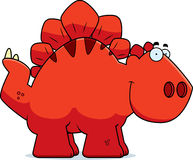 Smiling Cartoon Stegosaurus Stock Photography