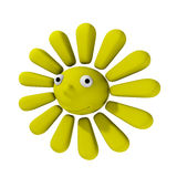 Smiling cartoon sun Royalty Free Stock Photo