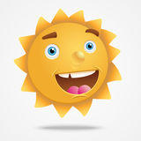 Smiling cartoon  sun characters Royalty Free Stock Photography