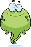 Smiling Cartoon Tadpole. A cartoon illustration of a tadpole smiling Royalty Free Stock Photography