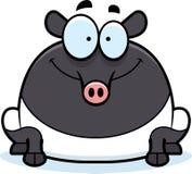 Smiling Cartoon Tapir Stock Photography
