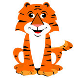 Smiling Cartoon Tiger Royalty Free Stock Photography