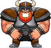 Smiling Cartoon Viking. A cartoon illustration of a muscular Viking smiling Stock Photo