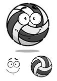 Smiling cartoon volleyball ball Royalty Free Stock Photography
